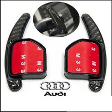 Audi Steering Wheel Carbon Fiber Fibre Shift Paddle Extensions Tiptronic 04-2012