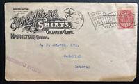 1900 Hamilton Canada Advertising Cover To Goderich Flag Cancel