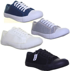 Mens Lace Up Cheap Trainers Grey Plimsole Lo Top Flat Sole Size UK 3 - 12