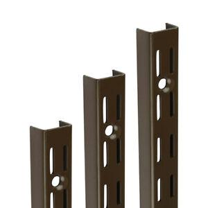 Brown Twinslot Shelf Uprights for Shelving System Adjustable Racking Support