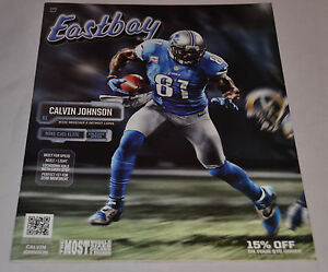 MINT! Eastbay Catalog CALVIN JOHNSON Cover Detroit Lions #87 Nike April 2013