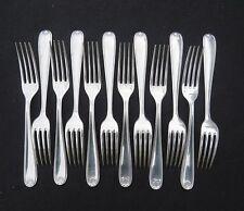 CHRISTOFLE 12 fourchettes de table en métal  argenté modèle coquille bérain 2