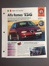 "1997 > Alfa Romeo 156 IMP ""Hot Cars"" Spec Sheet Folder Brochure #1-26"