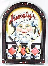 Humpty's House Of Eggs Framed Wall Sign Restaurant Breakfast