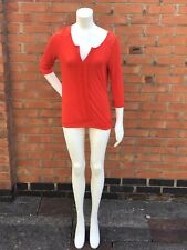 Next Ladies Red Long Sleeves Top Size 8