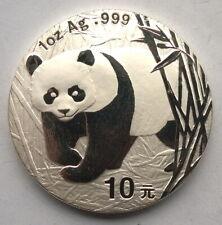 China 2002 Panda 10 Yuan 1oz Silver Coin,UNC