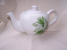 Teekanne mit Maiglöckchen aus Porzellan  1,2 Liter