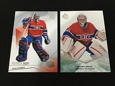 CAREY PRICE 2012 SP & PATRICK ROY 2016 SP MONTREAL CANADIENS HOCKEY CARDS