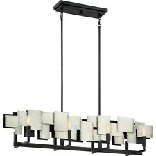 Quoizel Torrance 8 Light Island Chandelier, Old Silver - TCE842OS