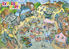 The Topsy Turvy World Of Wendy Brown The Market Square 1000 Piece Jigsaw Puzzle