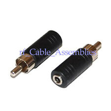 10X 3.5mm Mono Jack Female to Phono RCA Plug Male Socket Adapter TV Audio DIY