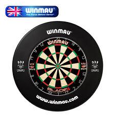 Winmau Blade 4 Professional Dartboard & Black Winmau Surround