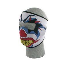 White Circus Clown Neoprene Full Face Mask Biker Ski Cycle Costume Paintball