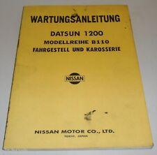 Manuel D'Atelier Instructions de Maintenance Datsun 1200 B110 (Sunny )