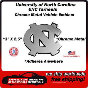 University of North Carolina UNC Tarheels Chrome Metal Car Auto Emblem Decal