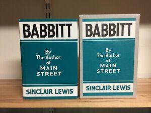 FEL Babbitt Sinclair Lewis First Edition Library FACSIMILE VERY GOOD condition