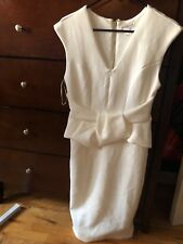womens Venus white peplum dress size 4