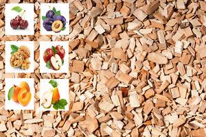 Premium Räucherchips Wood Chips Räucherholz FEIN Apfel, Kirsche u.vm Menge wählb
