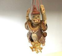 Antique Wooden Jointed Wooden Pot Belly Puppet-17 in. Long, Original Paint