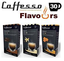 30x Nespresso COMPATIBILI aromatizzato capsule di caffè-vaniglia caramello cioccolato
