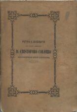 Patria e biografia di Cristoforo Colombo di Cuccaro - Forense 1853 Roma  1^Edz.