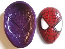 Spiderman Máscara de Silicona Molde 60mm herramienta de Decoración de Pasteles Glaseado Sugarpaste fimo