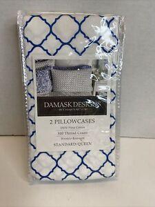 Charter Club Damask Designs Geo 500 TC Pima Cotton Pillowcase Standard/Queen