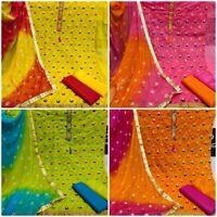 Suit Kameez Salwar Pakistani Indian Shalwar Casual Dress Chiffon Cotton Designer
