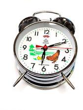 Wind Up Mechanical Alarm Clock Vintage Metal Ticktock Clock Dia. Table Clock