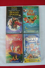 4 x Walt Disney Films on VHS Tapes. See picture for details