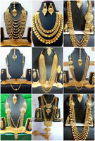 Necklace 22K Gold Plated Indian Designer Variation Necklace Earrings party Set h