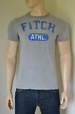 NUOVO Abercrombie & Fitch Iroquois Mountain distrutto GRIGIO ATLETICA TEE T-SHIRT S