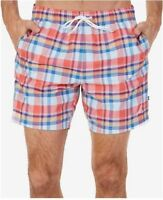 "Nautica Men's M Swim Trunks Coastal Beach Quick-Dry Madras Plaid 6"" Ins, $69.50"