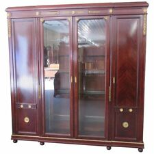 Rare French Louis XVI Rosewood Bronze Mounted China Cabinet Vitrine Armoire