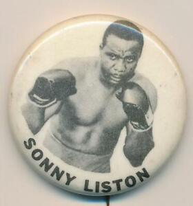 Vintage 1960's Sonny Liston Heavyweight Boxing Pin