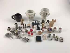 Dollhouse Miniatures Mixed Home Decor Lot