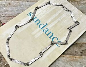 "NEW $285 Sundance 22"" JANE DIAZ Sterling Silver Handmade Chain Bar Necklace NWT"