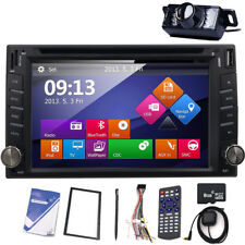 6.2'' Touchscreen Car DVD Player 2 Din Stereo GPS Radio BT Audio logo iPod+Cam