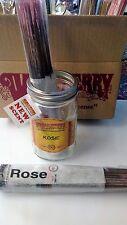 "25 Genuine Wild Berry 11"" Rose incense sticks in a plastic wrapper."