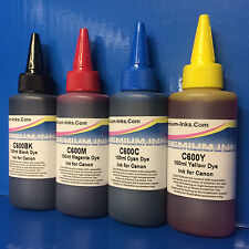 4x100ml Printer Refill INK for Canon PIXMA MG5400 MG5450 MG5550 MG5650 MG6350