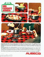 PUBLICITE ADVERTISING 056  1965  Aubecq   sevice à fondue