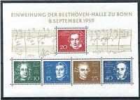 Bund Block 2 sauber postfrisch BRD 315 - 319 Beethoven Block 1959 MNH