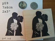 P59 Wedding silhouette rubber stamp WM