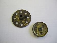 """2 - VINTAGE MECCANOparts -1"""" pulley &  1 3/8"""" bush wheel,Part No.22a,24."""