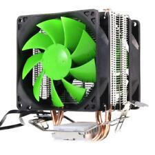 Dual Copper Pipes Dual Fan CPU Cooling Cooler Fan Heatsink for intel LGA1366 AMD