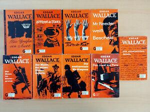9 Taschenbücher - Edgar Wallace - Goldmann Verlag