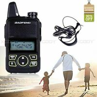 BAOFENG BF-T1 Two Way Radio With PTT Earpiece FM Radio UHF 400-470MHz VOX 16CH