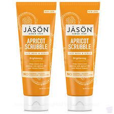 PACK OF 2 Jason brightening Apricot scrubble FACIAL WASH & SCRUB