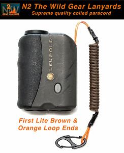 N2 The Wild Gear Lanyards First Lite Brown & Orange Rangefinder Lanyard Tether