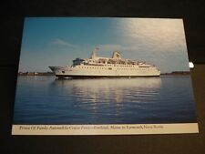 Ferry PRINCE of FUNDY Naval Cover Unused Post Card YARMOUTH, NOVA SCOTIA, CANADA